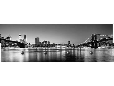 Artland Wandgarderobe »Songquan Deng: New York City - Brooklyn Bridge«, weiß, 30 x 90 x 2,8 cm, Weiß