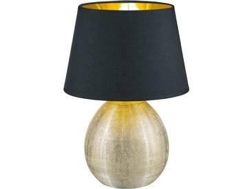 TRIO Leuchten Tischleuchte »LUXOR«, 1-flammig, goldfarben, 1 -flg. / Ø24 cm, goldfarben-schwarz