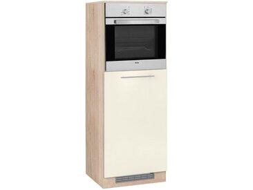 wiho Küchen WIHO-Küchen Backofen-/Kühlumbauschrank »Flexi2«, natur, vanillefarben/eichefarben