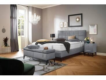 ADA premium Boxspringbett »Smart Elegance« Grand Comfort TF 1000 PM, grau, 7-Zonen-Tonnentaschen-Federkernmatratze H2/H3, silbergrau THO 9