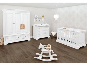 Pinolino® Pinolino Babyzimmer Set, Kinderzimmer »Emilia« breit groß (3-tlg.), weiß, weiß