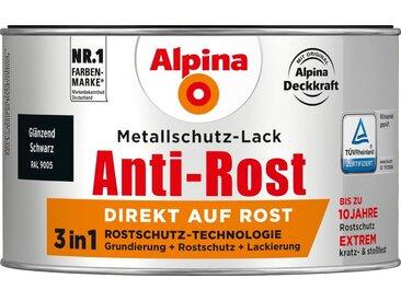 Alpina ALPINA Metallschutzlack »Anti-Rost - Glänzend Schwarz«, 3 in1, 300 ml, schwarz, schwarz