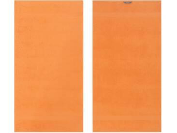 Egeria Badetuch »Diamant«, in Uni gehalten, orange, Frotteevelours, orange