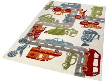 Sigikid Kinderteppich »Traffic«, rechteckig, Höhe 13 mm, natur, 13 mm, naturfarben-multi