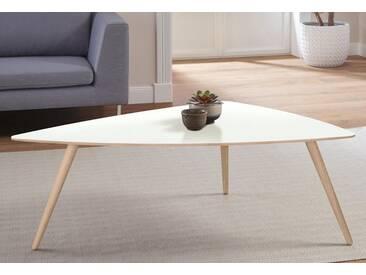andas Design Couchtisch »stick« mit Massivholzgestell, weiß, 120/90/42 cm, white oak Laminat weiß