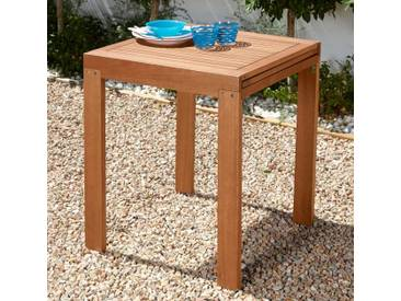 MERXX Gartentisch »Borkum«, Eukalyptusholz, 70x130 cm, braun, braun, 65-130 cm x 70 cm, braun