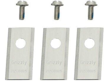 Grizzly GRIZZLY Ersatzmesser für Rasenmähroboter, 3er Set, rot, rot