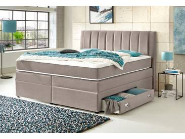 ATLANTIC home collection Atlantic Home Collection Boxspringbett, mit Bettschubkasten, braun, Bonnell-Federkern H2, braun