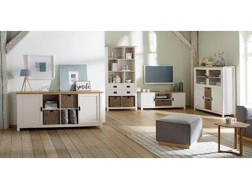 Home affaire Home Affaire Sideboard »Georgina« mit 2 Türen, 4 offenen Fächer und 2 Körbe, Breite 176 cm, weiß, weiß/creme