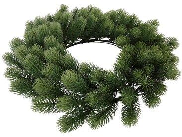 Dekokranz, hochwertiger Tannenkranz, Ø 60 cm, grün, grün