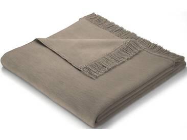 BIEDERLACK Sofaläufer »Cotton Cover«, mit Fransen versehen, braun, Baumwolle-Kunstfaser, taupe