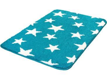 MEUSCH Badematte »Stars« , Höhe 15 mm, rutschhemmend beschichtet, fußbodenheizungsgeeignet, grün, 15 mm, türkis