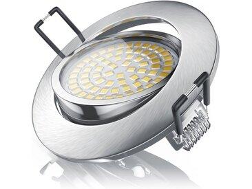 Brandson LED Deckenspot mit Aluminium Druckgussrahmen »Einbaustrahler / Warmweiß / schwenkbar«, silberfarben, Chrom gebürstet