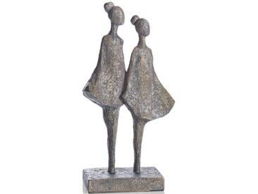 Deko Figur, »Two Girls«, Grau, Grau