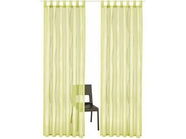 my home Gardine »Dimona«, Schlaufen (2 Stück), grün, Schlaufen, transparent, grün