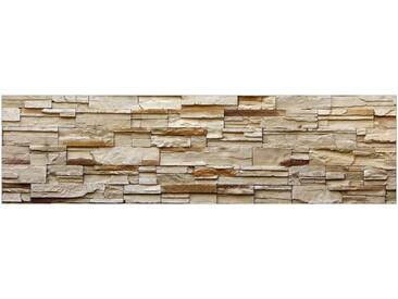 MySpotti Küchenrückwand »fixy Rustical Bricks«, grau, grau