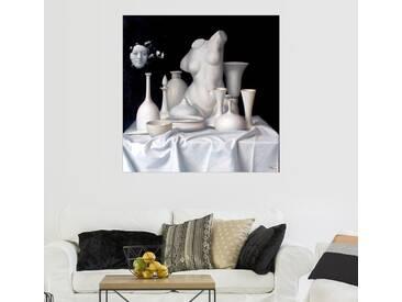 Posterlounge Wandbild - Alex Alemany »Apologie del Blanco«, grau, Leinwandbild, 100 x 100 cm, grau