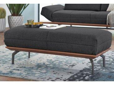 hülsta sofa Hocker »hs.420« (mit Holzrahmen in Eiche Natur oder Nußbaum), grau, Holzrahmen Nußbaum, schwarzgrau 024-57