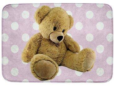 Kinderteppich Ultrasoft Teddybär, rosa, 70 x 95 cm, rosa, rosa