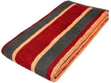 Lashuma Saunatuch »Toronto«, das flauschige Saunahandtuch mit Streifen!, rot, rot