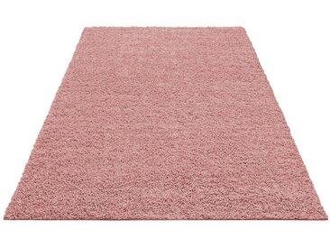 Home affaire Hochflor-Teppich »Shaggy 30«, rechteckig, Höhe 30 mm, rosa, 30 mm, rosé