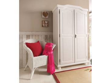 Home affaire Kleiderschrank, weiß, 2-türig, Breite 104 cm, ohne Aufbauservice, ohne Aufbauservice, weiß