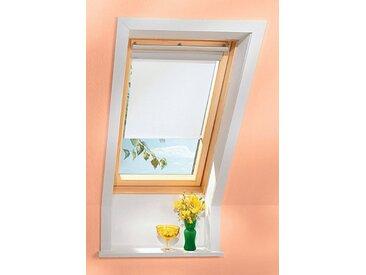 VELUX Sichtschutzrollo , für Fenstergröße 204 und 206, rustik, weiß, 204/206, weiß