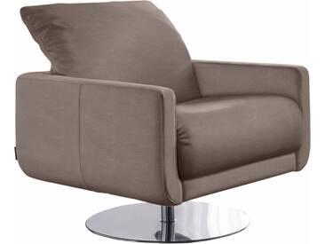 W.SCHILLIG Armlehnen-Sessel »mademoiselle« mit Kopfstützenverstellung und Drehteller, natur, almond