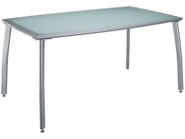 MERXX Gartentisch »Lima«, Aluminium, 150x90 cm, silber, silberfarben, 90 cm x 150 cm, silberfarben