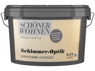 SCHÖNER WOHNEN-Kollektion SCHÖNER WOHNEN FARBE Spezialfarbe »Schimmer-Optik Effektfarbe lightgold«, glänzend 2,5 l, goldfarben, 2.5 l, lightgold