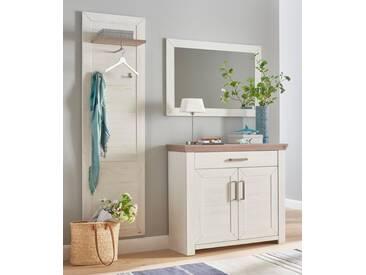 set one by Musterring Garderoben-Set (3-tlg.) »york« , im Landhaus Stil, weiß, ohne Aufbauservice, Pino Aurelio