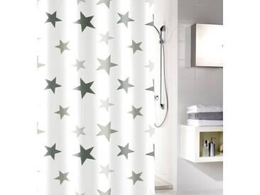 MEUSCH Duschvorhang »Stars«, Breite 180 cm, weiß, weiß