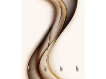 Artland Schlüsselbrett »SidorArt: Schön abstrakt braun Welle Design«, braun, 25x20 cm, Braun