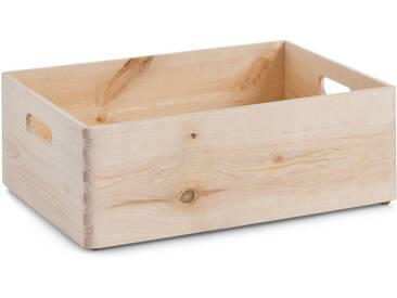 Zeller Present Holzkiste, aus Nadelholz, natur, 40x30x15 cm, natur