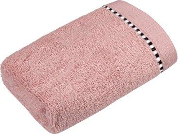 Esprit Gästehandtuch »Box Solid«, mit Bordüre, rosa, Webfrottier, rose