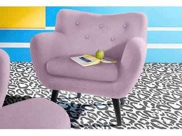 INOSIGN Sessel im Retro-Style, rosa, rosa