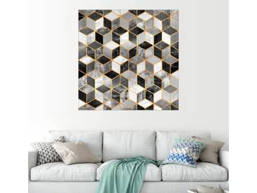 Posterlounge Wandbild - Elisabeth Fredriksson »Black and white cubes«, bunt, Holzbild, 30 x 30 cm, bunt