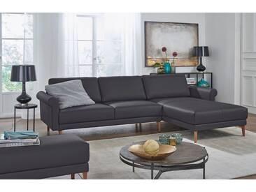 Hülsta Sofa hülsta sofa Polsterecke »hs.450« im modernen Landhausstil, Breite 282 cm, schwarz, Recamiere rechts, signalschwarz