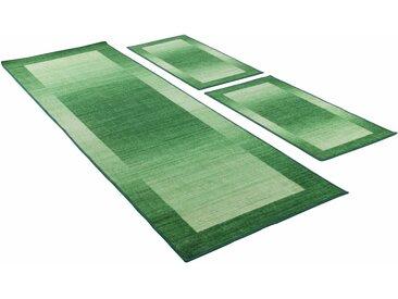THEKO Bettumrandung »Gabbeh Ideal« , höhe 6 mm, (3-tlg), getuftet, natur, grün