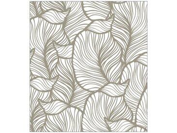 MySpotti MYSPOTTI Fensterfolie »mySPOTTI look Leaves beige«, 90 x 100 cm, statisch haftend, natur, 90 cm, beige/weiß