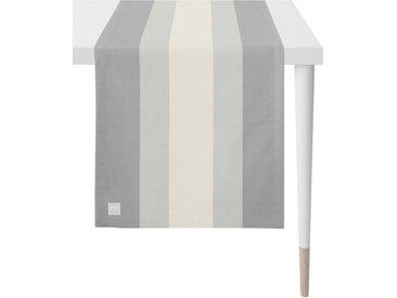 APELT Tischläufer »3962 Outdoor« (1-tlg), Panamastreifen, grau, grau