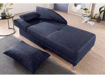 Jockenhöfer Gruppe Recamiere, mit Schlaffunktion und Bettkasten, blau, blau