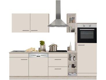 OPTIFIT Küchenzeile »Kalmar«, ohne E-Geräte, Breite 270 cm, natur, creme
