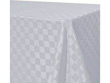 Delindo Lifestyle Tischdecke »KARO«, Jacquardgewebe, 200 g/m², weiß, weiß