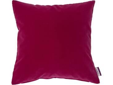 Tom Tailor Kissenhülle »Velvet Linen Pad«, rosa, Mischgewebe, pink