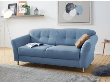 sit&more 3-Sitzer, mit Federkern, blau, 192 cm, blau