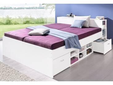 Breckle Bett, weiß, Bonnell-Federkernmatratze, H2, weiß