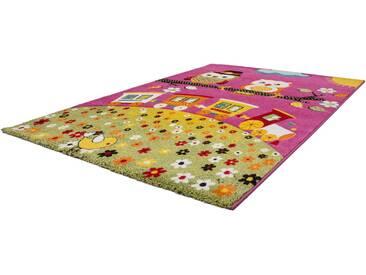 LALEE Kinderteppich »Amigo 315«, rechteckig, Höhe 15 mm, rosa, 15 mm, pink