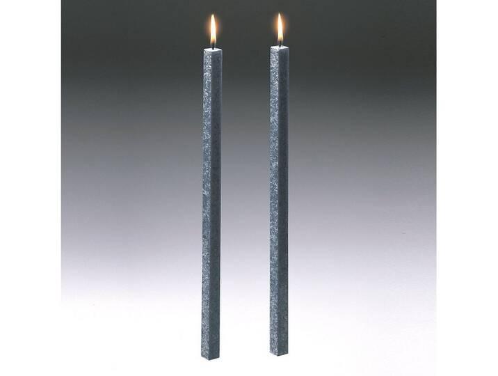 Amabiente Kerze CLASSIC stein 40cm - 2er Set, g...