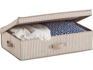 Zeller Present Zeller Aufbewahrungsbox m. Deckel »Stripes«, Vlies, beige, natur, Maße(B/T/H):(61,5/38/16,5), natur